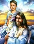 A Boy in Jesus arms