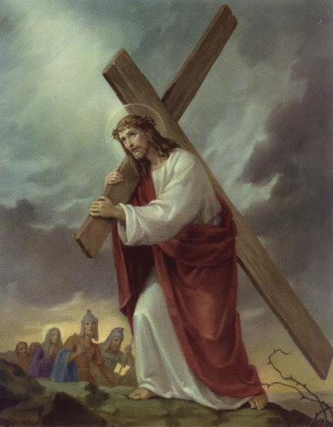 Jp10 jesus carrying a cross